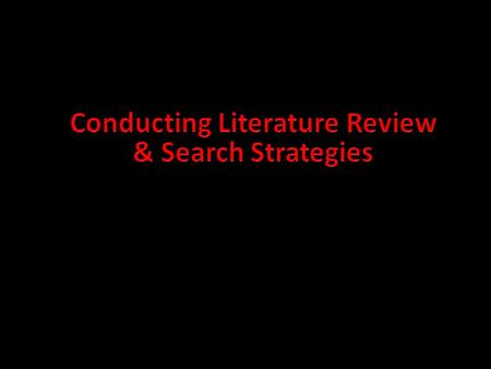 "1. Literature Review Hart (1998) defined the literature review as ""the use of ideas in the literature to justify the particular approach to the topic,"