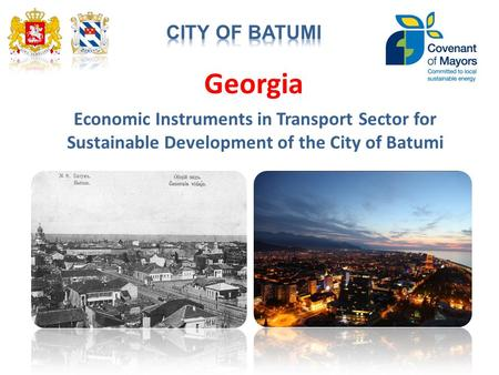 Georgia Economic Instruments in Transport Sector for Sustainable Development of the City of Batumi.