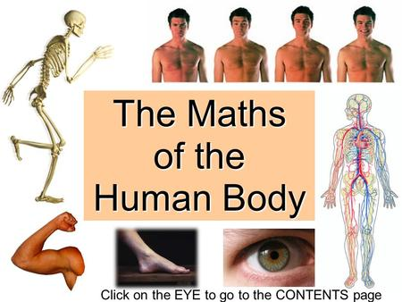 The Maths of the Human Body Click on the EYE to go to the CONTENTS page.