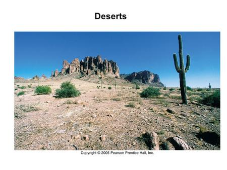 Deserts. Less than 10 inches of precipitation per year Is San Diego considered to be in a desert area?