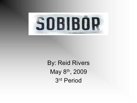 By: Reid Rivers May 8 th, 2009 3 rd Period. How did the Holocaust effect Sobibor? Sobibor was a camp where prisoners went to die. An estimated 260,000.