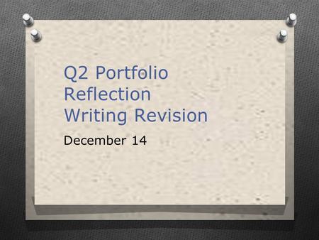 reflection on my portfolio essay