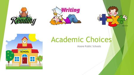 Academic Choices Moore Public Schools. What is Academic Choice in public school and why should we try it?  Academic Choice is a way to structure lessons.