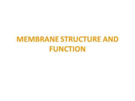 MEMBRANE STRUCTURE AND FUNCTION. Label the structure of the cell membrane.