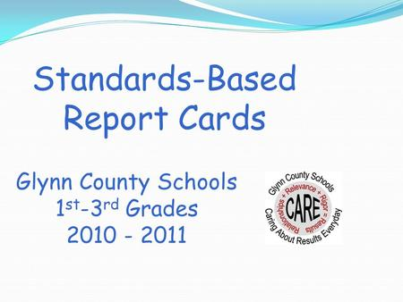 Standards-Based Report Cards