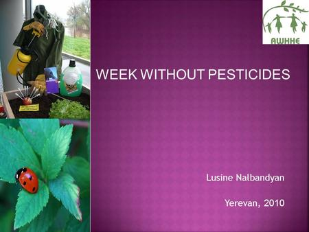 Lusine Nalbandyan Yerevan, 2010 WEEK WITHOUT PESTICIDES.