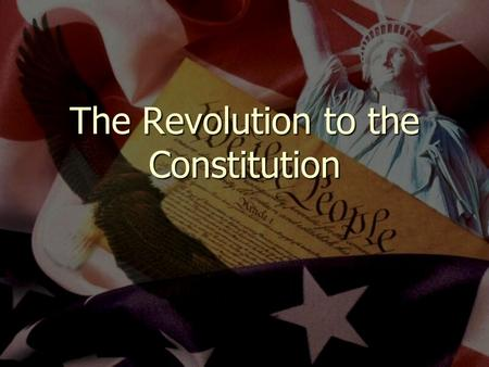 The Revolution to the Constitution. The New Government Articles of Confederation (1777) Articles of Confederation (1777) Is the Articles of Confederation.