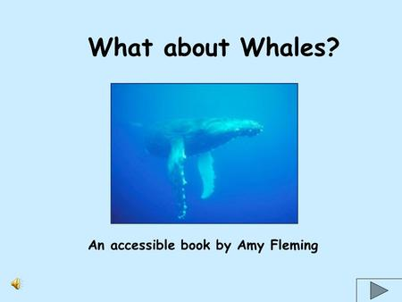 What about Whales? An accessible book by Amy Fleming.
