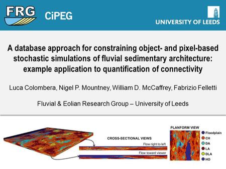 A database approach for constraining object- and pixel-based stochastic simulations of fluvial sedimentary architecture: example application to quantification.