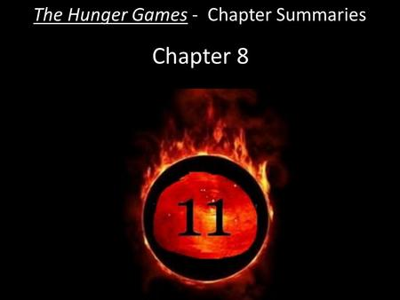 Chapter 8 The Hunger Games - Chapter Summaries. Chapter 8  As soon as she leaves Katniss begins to panic, wondering if the Gamemakers will punish her.