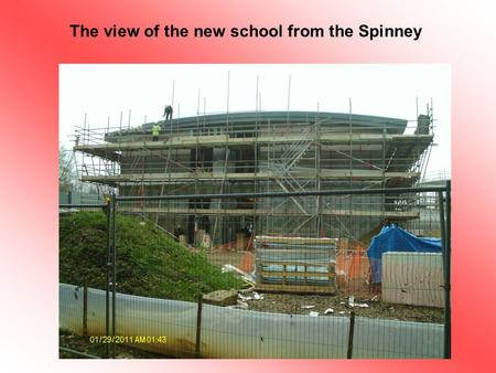 The view of the new school from the Spinney. This area will be the infant playground.