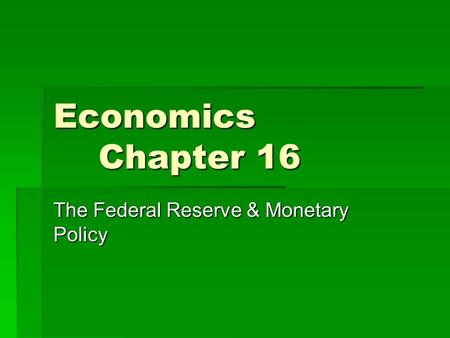 the federal reserve and monetary policy How the world achieved consensus on monetary policy marvin goodfriend nber working paper no 13580 november 2007 jel no e3,e4,e5 happened in federal reserve policy to produce an understanding of the practical principles of monetary policy.