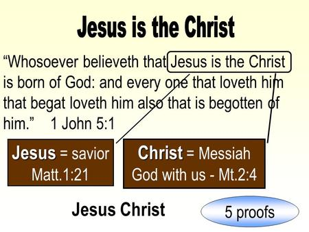 """Whosoever believeth that Jesus is the Christ is born of God: and every one that loveth him that begat loveth him also that is begotten of him."" 1 John."