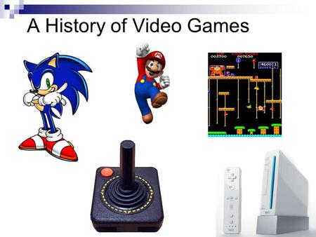 A History of Video Games. Interesting Facts Nintendo – established in 1889 as a playing card company Sony – started in 1947 as Tokyo Telecommunications.
