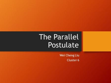 The Parallel Postulate