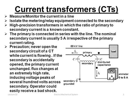 Current transformers (CTs)