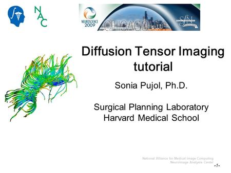 Sonia Pujol, PhD -1- National Alliance for Medical Image Computing Neuroimage Analysis Center Diffusion Tensor Imaging tutorial Sonia Pujol, Ph.D. Surgical.