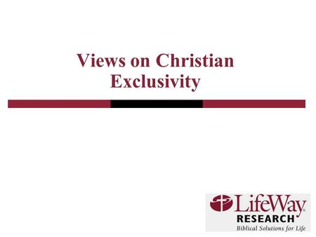 Views on Christian Exclusivity. 2 Methodology  The telephone survey of Protestant pastors was conducted in May 2011  The calling list was randomly drawn.