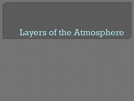  The layers of our atmosphere are based on temperature changes.  The Troposphere: The Layer in Which We Live The lowest layer of the atmosphere, which.