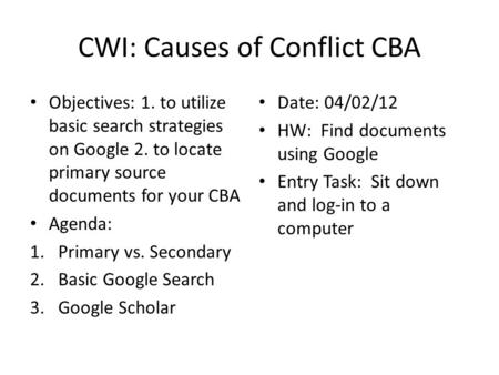 causes of conflict cba essay Workplace conflict causes effects and solutions management essay print reference this  published: 23rd march, 2015   the causes of the workplace conflict will be effected and lead to.