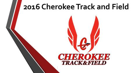 2016 Cherokee Track and Field. Who are WE?! Back to Back County Champions Region Champions State Qualifiers FAMILY!