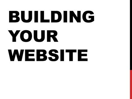 BUILDING YOUR WEBSITE. MAKE SURE YOU HAVE TWO SCREENS You MUST have at least TWO SCREENS built in Photoshop by 2:35pm.