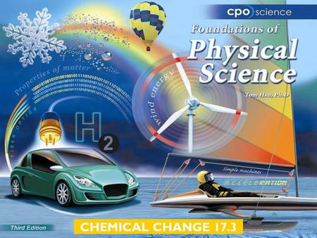 CHEMICAL CHANGE 17.3. Chapter Seventeen: Chemical Change  17.1 Chemical Reactions  17.2 Balancing Equations  17.3 Classifying Reactions.