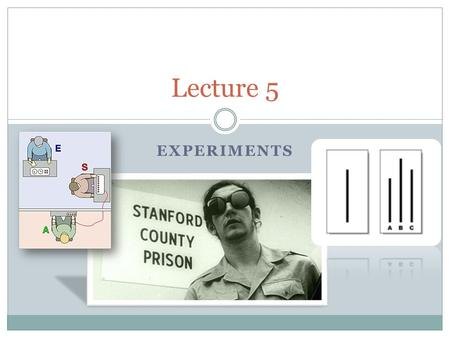 EXPERIMENTS Lecture 5. Administrative STATA Course Mailing List Info:    No subject  In body.