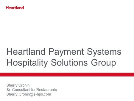 Heartland Payment Systems Hospitality Solutions Group