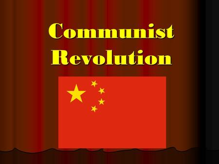 Communist Revolution. The End of Emperors In 1911, after thousands of years of being ruled by emperors, the last of China's royal dynasty's was overthrown.