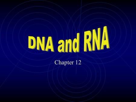 Chapter 12 Remember! Chargaff's rules The relative amounts of adenine and thymine are the same in DNA The relative amounts of cytosine and guanine are.
