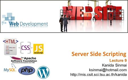Server Side Scripting. Common Gateway Interface (CGI) The web is a client-server system.