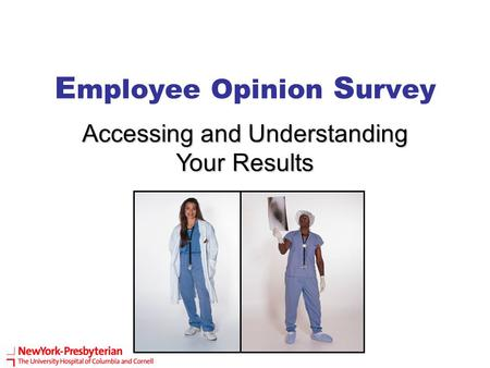 E mployee Opinion S urvey Accessing and Understanding Your Results.