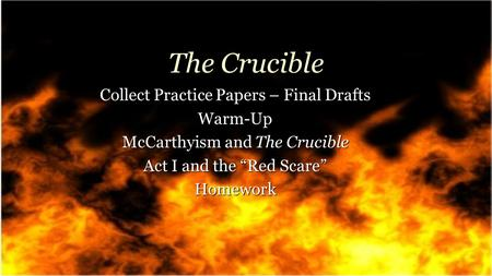 the crucible and mccarthyism thesis Essays - largest database of quality sample essays and research papers on thesis on mccarthyism.