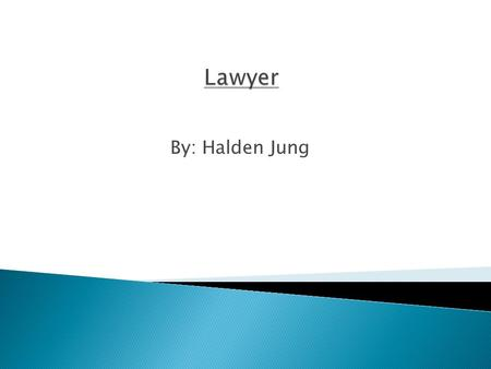 By: Halden Jung. A Lawyer may practice in many fields of law. Which include:  Criminal Law  Educational Law  Civil Rights  Corporate and Securities.