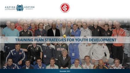 December 2015 TRAINING PLAN STRATEGIES FOR YOUTH DEVELOPMENT.