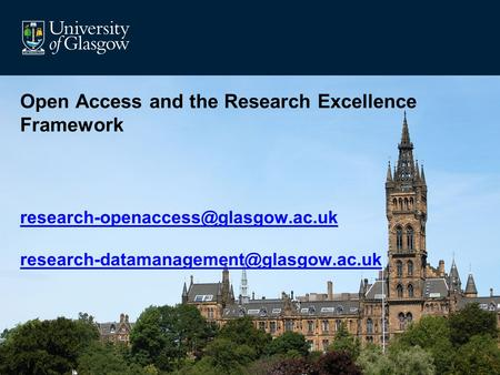 Open Access and the Research Excellence Framework