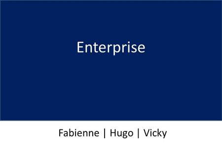 Enterprise Fabienne | Hugo | Vicky. Mandate AnalysisStrategyImplemmentationFinancials How are we going to do this? Attract young graduates to pursue a.