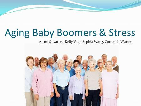Aging Baby Boomers & Stress