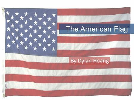 The American Flag By Dylan Hoang. Flags When you see a flag on the floor pick it up Clean the flag so it won't be dirty Never put flags on the floor.