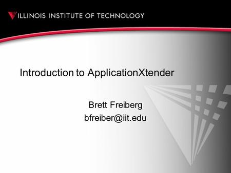 Introduction to ApplicationXtender