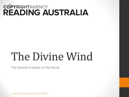 Garry Disher's 'The Divine Wind' Essay Sample