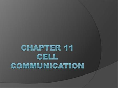 You Must Know  3 stages of cell communication Reception, transduction, & response  How G-protein-coupled receptors receive cell signals & start transduction.