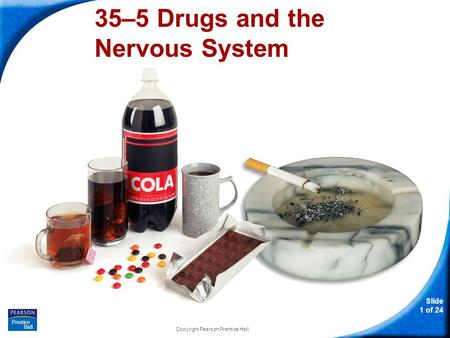 Slide 1 of 24 Copyright Pearson Prentice Hall 35–5 Drugs and the Nervous System.