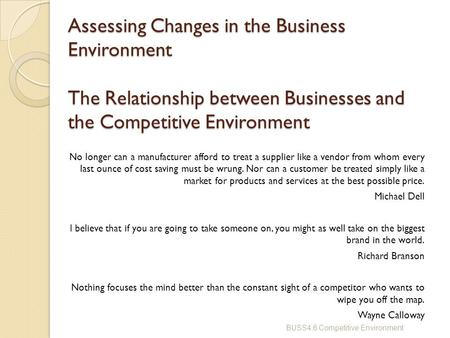relationship between business and environment ppt