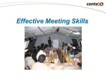 Effective Meeting Skills