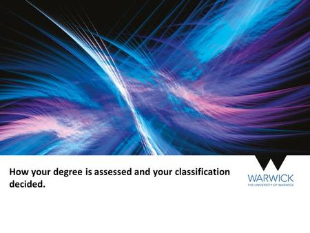 How your degree is assessed and your classification decided.