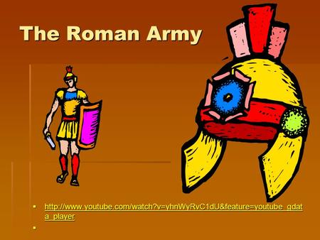 The Roman Army   a_player