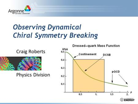 Observing Dynamical Chiral Symmetry Breaking Craig Roberts Physics Division.