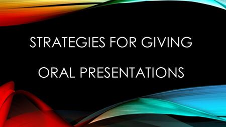 strategies for improving oral presentation pdf